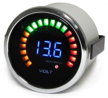 Volt Anzeige Voltmeter Zusatz Instrument 52mm Tenzo Pro