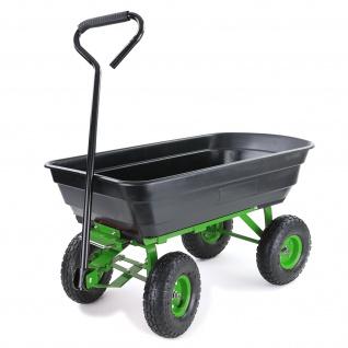 Transportwagen Gartenwagen Schubkarre Handwagen Kippfunktion 250 kg Schwarz Grün