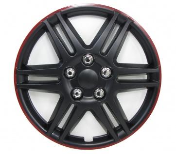 Radkappen Radzierblenden für Stahlfelgen Set Tenzo-R V 14 Zoll schwarz rot