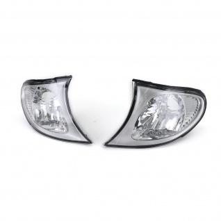 Klarglas Blinker chrom für BMW 3ER E46 Limousine ab 01