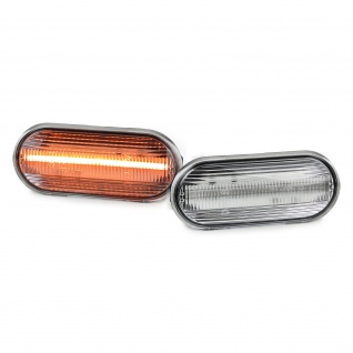 Dynamische LED Seitenblinker klar für VW Bora Golf Polo Seat Leon Ford Fiesta