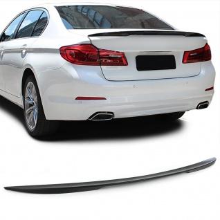 Heck Spoiler Lippe Performance Optik schwarz matt für BMW 5er G30 G38 ab 16