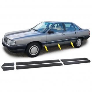 Stoßleisten Zierleisten Türleisten Set 6 teilig für Audi 100 C3 82-91