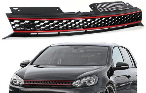 Sport GTI Waben Grill Kühlergrill ohne Emblem für VW Golf 6 08-13 - Vorschau 2