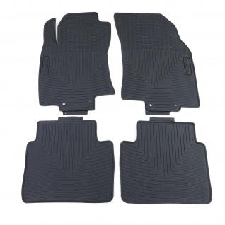 Premium Gummi Fußmatten Set 4-teilig Schwarz für Nissan X-Trail T32 ab 13