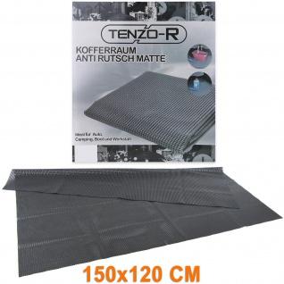 Anti Rutschmatte Kofferraummatte Laderaumschutz universal XL 150x120cm Schwarz