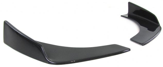 Front Spoilerecke Front Flaps Cup Wings hoch universal Carbon TYP 6