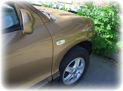 Klarglas Seitenblinker chrom für Hyundai Santa Fe 00-06 - Vorschau 2