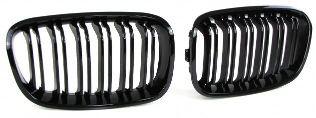 Sport Kühlergrill Nieren Doppelsteg schwarz glänzend für BMW 1er F20 F21 11-15