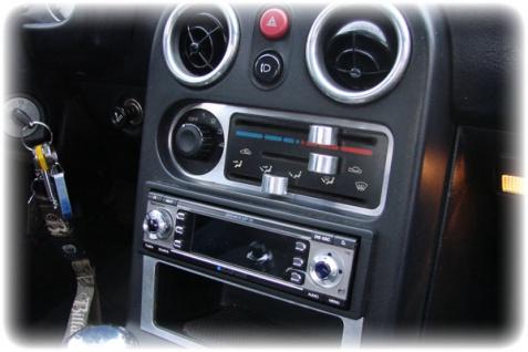 Heizungsregler Blende - Edelstahl für Mazda MX 5 Mx5 NA