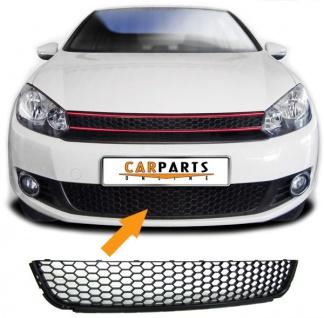 Kühlergrill unten Stoßstange Grill Einsatz GTI Look mit Waben für VW Golf 6