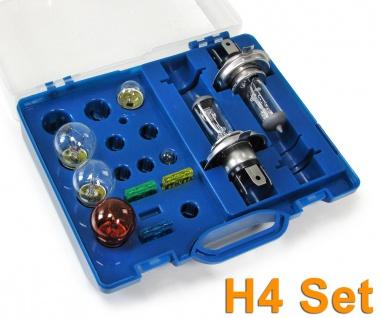 KFZ Leuchtmittel Glühbirnen und Sicherungen Ersatz H4 Set 12v 10 teilig