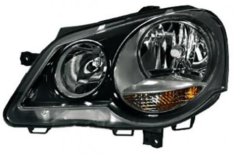 GTI Cup Scheinwerfer schwarz links für VW Polo 9N3 05-09