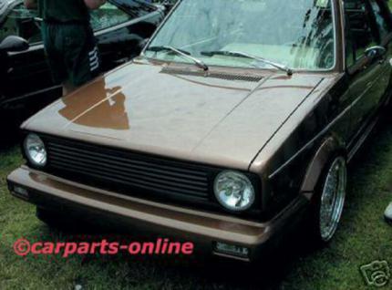 GRILL KÜHLERGRILL OHNE EMBLEM FÜR VW Golf 1 + Cabrio