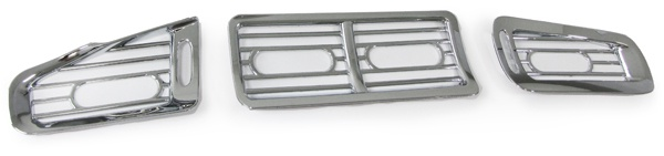 Lüftunsgitter Blenden Cover Set 3 teilig chrom für Honda Civic 91-95 EG EJ
