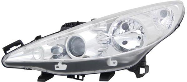 H1 / H7 / H7 Scheinwerfer links TYC für Peugeot 207 CC WD 07-