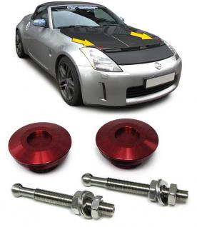 Alu Motorhauben Schnellverschluss Verriegelung Rennsport rot - Vorschau 2