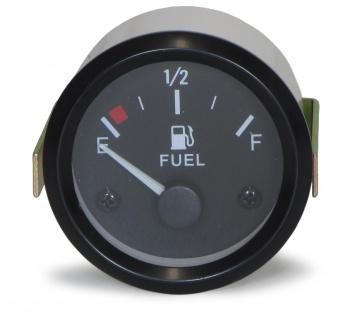 52mm Zusatz Instrument Youngtimer schwarz Füllstandsanzeige Benzin Kraftstoff