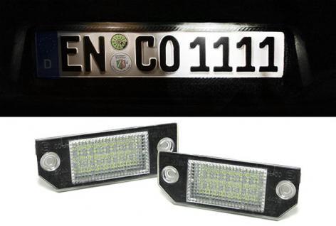 LED KENNZEICHENBELEUCHTUNG WEISS 6000K FÜR Ford Focus C-Max 03-07