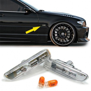 Klarglas Seitenblinker für BMW 3ER E46 98-03