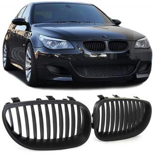 Sport Nieren Kühlergrill schwarz matt für BMW 5er E60 E61 03-10