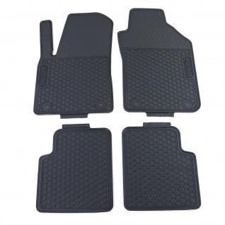 Premium Gummi Fußmatten Set 4-teilig Schwarz für Fiat 500 312 ab 07