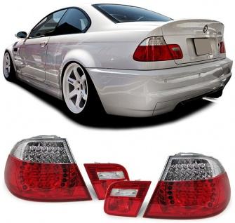 LED Rückleuchten rot klar Facelift Optik für BMW 3ER E46 Coupe 99-03