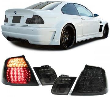 Klarglas LED Rückleuchten schwarz smoke für BMW 3ER E46 Cabrio 99-07