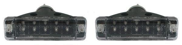 LED Klarglas Blinker schwarz für VW Golf 1 + VW Golf 2