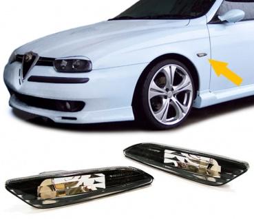 Klarglas Seitenblinker schwarz für ALFA Romeo 156 97-03