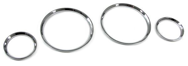 Tachoringe Abdeckungen Blenden 4 teilig chrom für Opel Corsa B 93-02 Tigra 94-00 - Vorschau 2