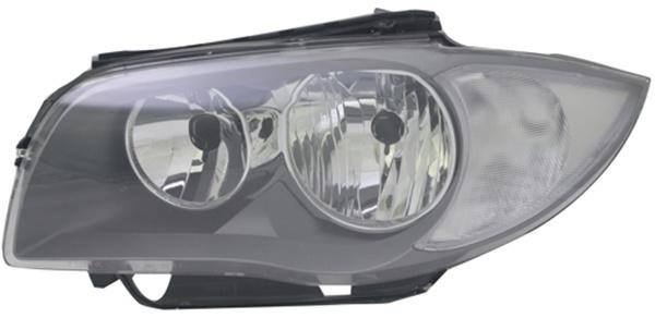 H7 / H7 Scheinwerfer schwarz links TYC für BMW 1ER E81 E87 09-12