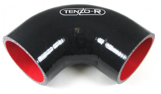 Tenzo-R Silikonschlauch verstärkt Verbindung Abgewinkelt 90° 76mm 102+102 mm
