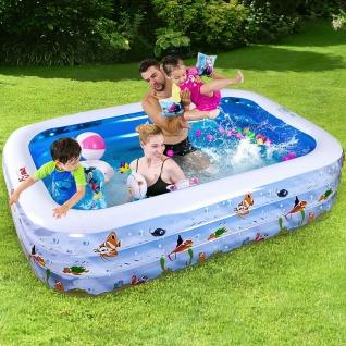 Kinder Pool NEMO Swimmingpool Planschbecken gepolstert Rechteckig 180x140x60cm