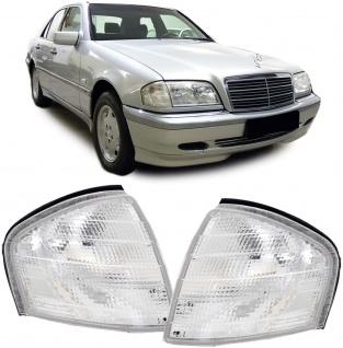 Blinker weiß Paar für Mercedes C Klasse W202 Limousine S202 Kombi T-Model 93-01 - Vorschau 2