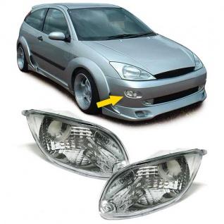 Klarglas Blinker chrom Paar mit Leuchtmittel für Ford Focus 98-01 - Vorschau 1