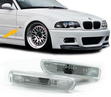 Seitenblinker weiß Paar für BMW 3ER E46 Coupe Cabrio 99-03 Limousine Touring