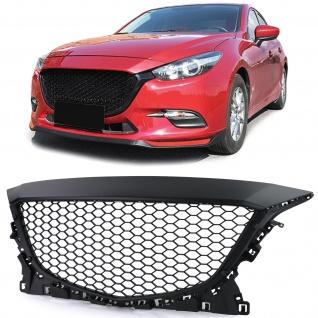Kühlergrill Sport Grill ohne Emblem im Wabendesign schwarz matt für Mazda 3 BM