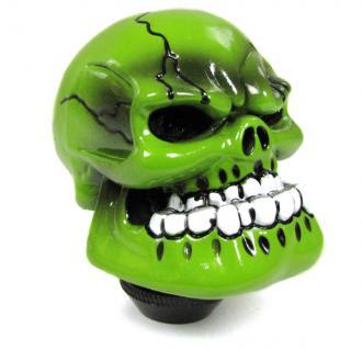 Sport Schaltknauf Totenkopf Skull Hulk grün