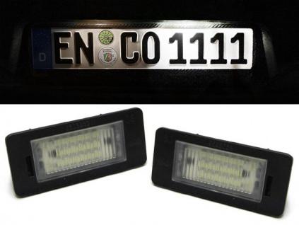 LED Kennzeichenbeleuchtung weiß 6000K für Audi A4 A5 Q5 TT 07-09
