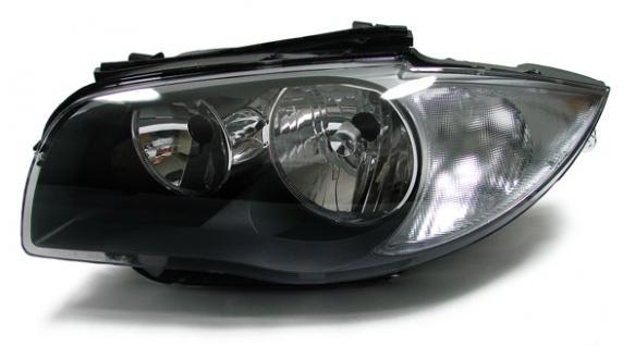 Scheinwerfer H7 H7 schwarz links für BMW 1ER E81 E82 E87 E88 ab 07