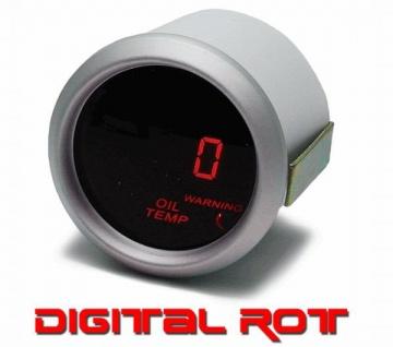 Öltemperatur Anzeige Zusatz Instrument 52mm digital Magic rot