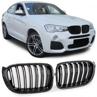 Echt Carbon Sport Nieren Kühlergrill für BMW X3 F25 X4 F26 ab 14