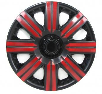 Radkappen Radzierblenden Bicolor Set Tenzo-R II 15 Zoll schwarz rot