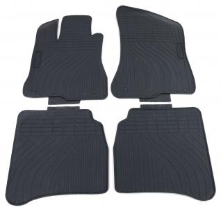 Premium Gummi Fußmatten Set 4-teilig Schwarz für Mercedes S-Klasse W221 05-13