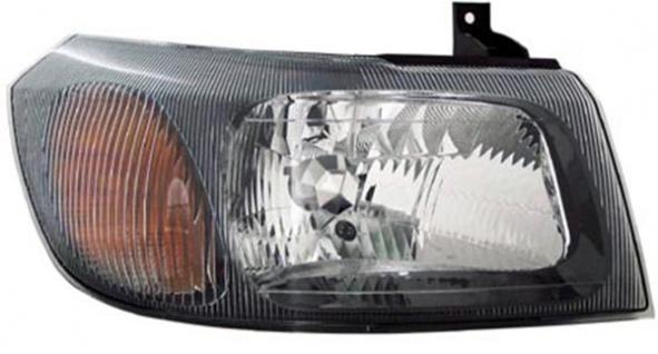 H4 Scheinwerfer schwarz rechts TYC für Ford Transit 02-06