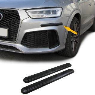 Stoßstangen Schutz Streifen flexibel zum kleben universal 306x35mm Carbon