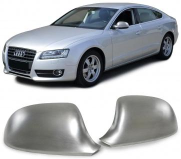 Aussen Spiegelkappen Abdeckungen Cover Alu matt für Audi A3 8P A4 B8 A5 8T
