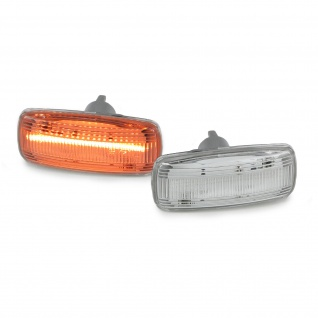 LED Lightbar Seitenblinker klar Paar für Audi A2 8Z A3 8L A4 B5 A6 C5 A8 TT 8N