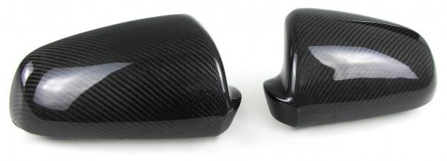 Echt Carbon Spiegelkappen zum Austausch für Audi A4 B7 Limousine Avant 04-08